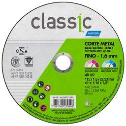 Disco de Corte Classic 115 x 1,6 x 22,23mm para Metal