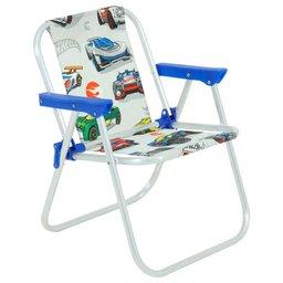 Cadeira Infantil Hot Wheels Branco de Alumínio