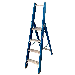 Escada Plataforma de Alumínio e Fibra 3 Degraus Anti Ferrugem