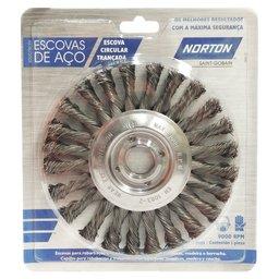 Escova Circular Trançada em Aço Temperado 152,4 x 12,7mm
