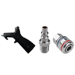 Kit com Bico de Sopro e Adaptadores 1/4 Pol. com 3 Unidades