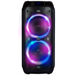Caixa de Som Preta Amplificada Portátil 600W com Bluetooth a Bateria