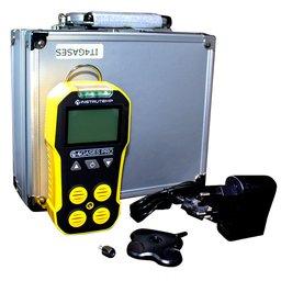 Detector de Gases à Bateria Portátil para EX, H2S, CO e O2 com Carregador e Maleta