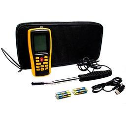 Termo Anemômetro de Fio Quente Digital à Bateria Alcalina AAA 1,5V Sem Bateria