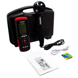 Termo Higro-Anemômetro Digital à Bateria Alcalina AAA 1,5V com Datalogger sem Bateria