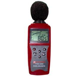 Decibelímetro Digital à Bateria 9V Ponderação A e C 30 a 130dB com Bateria e Maleta