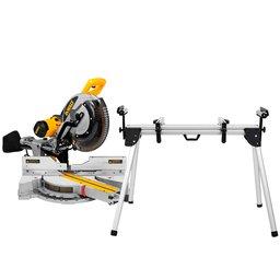 Kit Serra de Esquadria de 12 Pol. 1675W com Braço Telescópio - DEWALT-DWS780-B2 + Bancada em Alumínio para Serra Esquadria 100Kg - FORTGPRO-FG161