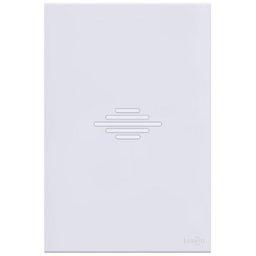 Campainha Musical/Bitonal Glass em Acrílico Branco 4 x 2