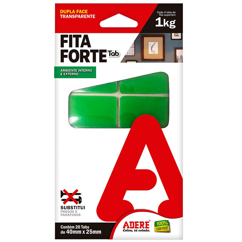 Fita Dupla Face Fort 20 Tabs 40mm x 25mm