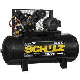 Compressor Max MSV Aberto 30 Pés 350L 7,5HP 220/380V Trifásico