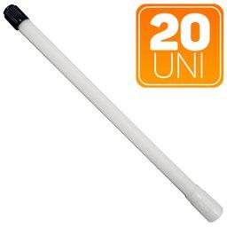 Extensão Rígida Plástica Branca de 180mm para Uso em Caminhões e Ônibus com 10 Unidades
