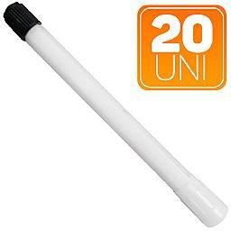 Extensão Rígida Plástica Branca de 111mm para Uso em Caminhões e Ônibus com 10 Unidades