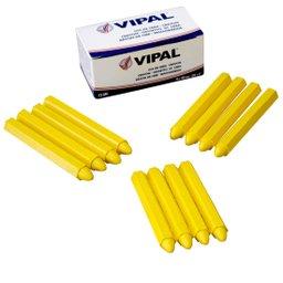 Caixa de Giz Amarelo de Parafina para Demarcações com 12 Unidades