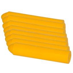 Giz de Cera Amarelo 110 x 12mm com 8 Unidades Uso Profissional