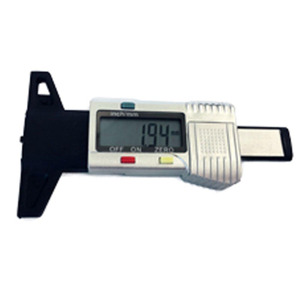 Profundímetro Digital Prata para Medição de Banda de Pneus 0 a 25mm