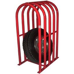 Grade de Segurança Vermelha para Pneus com 5 Barras
