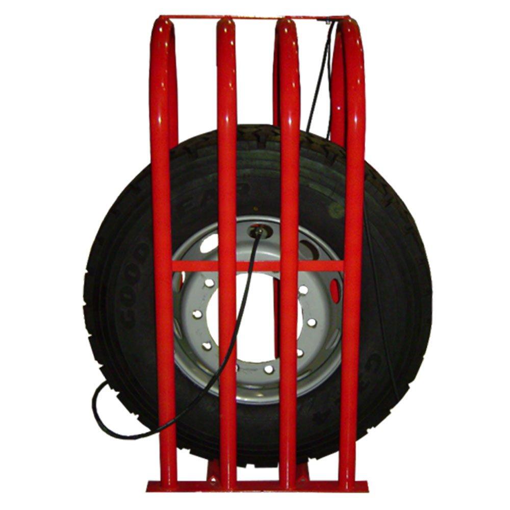 Grade de Segurança Vermelha para Pneus com 4 Barras