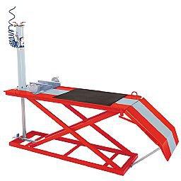 Elevador Pneumático para Motos 350kg SP300 Vermelho/Cinza