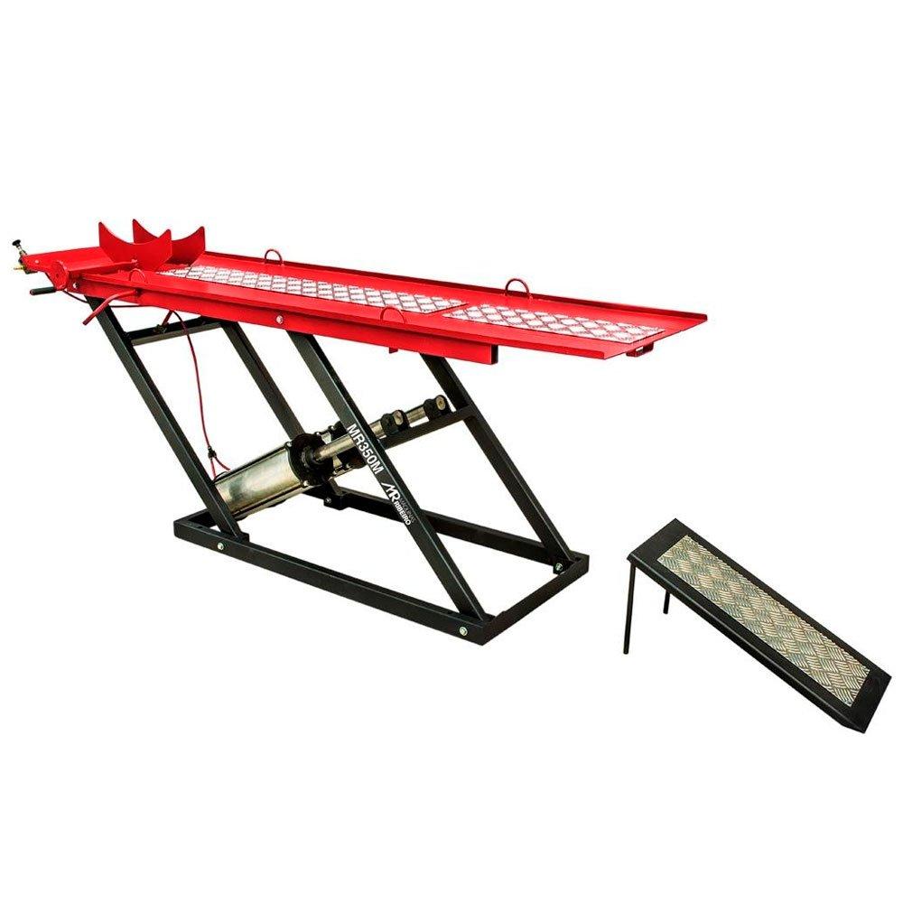 Elevador/Rampa Pneumática 350Kg para Moto Vermelho