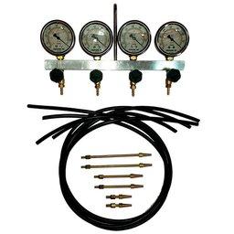 Vacuômetro Completo com Glicerina, 4 Relógios, Mangueiras e 6 Bicos para Motos