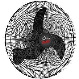 Ventilador Oscilante de Parede Super Delta 65cm Preto Bivolt