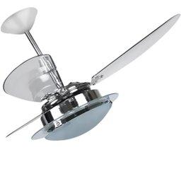 Ventilador de Teto Delta Clean com 3 Pás 110 V Cromado