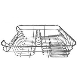 Escorredor de Pratos Inox com Porta Talheres