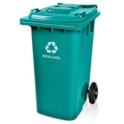 Cesto de Lixo Seletivo Verde 120L