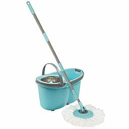 Esfregão Mop com Rodinhas Limpeza Prática