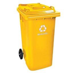 Cesto de Lixo Seletivo Amarelo 120L