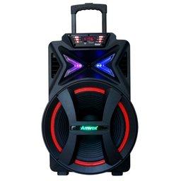 Caixa de Som Amplificada 500W Bivolt 110/220V com Karaokê, Bluetooth e Rádio FM