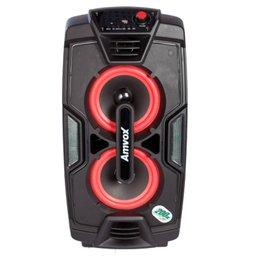Caixa de Som Amplificada 200W Bivolt com Karaokê, Bluetooth e Rádio FM