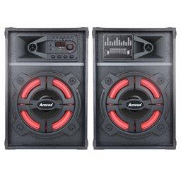 Caixa de Som Amplificada Bluetooth Radio FM Bivolt 1200W
