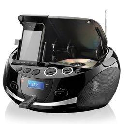 Aparelho de Som Portátil Boombox Dockstation 20 W RMS com Entrada USB e Rádio FM