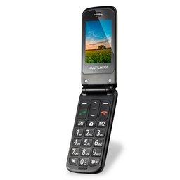 Celular Flip Vita Dual Chip 2,4 Pol. MP3 Dourado com Câmera
