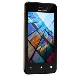 Smartphone 3G Dual Chip 4 Pol. Quad Core com Câmera MS40S Preto e Dourado