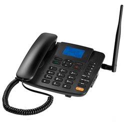 Telefone Celular Rural Fixo 5 Bandas 3G com Entrada para 1 Chip Preto