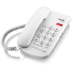 Telefone com Fio Branco com Indicação Luminosa de Chamadas