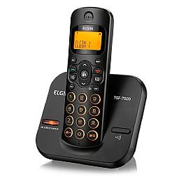 Telefone sem Fio Preto com Viva-Voz, Teclado Iluminado e Identificador de Chamadas