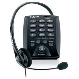 Telefone Headset com Base Discadora e Fone de Ouvido para Telefonista