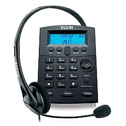 Telefone Headset com Base Discadora e Fone de Ouvido