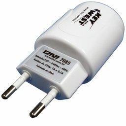 Carregador de Viagem com 2 Saídas USB Bivolt