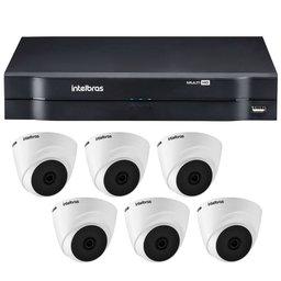 Kit Gravador Digital de Vídeo INTELBRAS-4580326 Multi HD +  6 Câmeras de Segurança INTELBRAS-4565291 Multi HD 720p VHD
