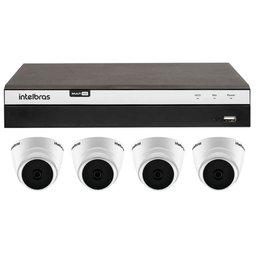 Kit Gravador Digital de Vídeo INTELBRAS-4580330 Multi HD + 4 Câmeras de Segurança INTELBRAS-4565306 Full HD 2MP