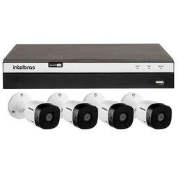 Kit Gravador Digital de Vídeo INTELBRAS-4580330 Multi HD + 4 Câmeras de Segurança INTELBRAS-4565305 Infravermelho Full HD