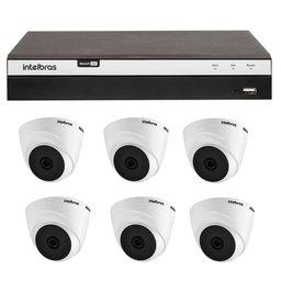 Kit Gravador Digital de Vídeo Multi HD 8 Canais BNC + 4 Canais - INTELBRAS-4580331 + 2 canais - INTELBRAS-4580330 + Câmera Infra Dome HDCVI LITE 2,8mm 20mm - INTELBRAS-4565303