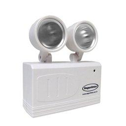 Iluminação Emergência LED 200 Lumens com 2 Faróis