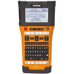 Rotulador Eletrônico Profissional E500 Laranja e Preto com Display Digital