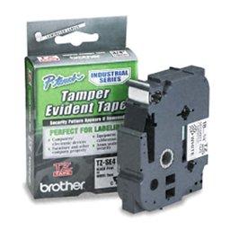Fita Industrial de Segurança para Rotulador Preto sobre Branco 18mm x 8m