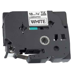 Fita Industrial para Rotulador Preto sobre Branco 18mm x 8m